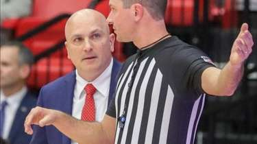Stony Brook Seawolves head coach Geno Ford speaks