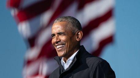 Former President Barack Obama speaks in Atlanta, Georgia