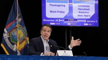Gov. Andrew M. Cuomo, during a Tuesday news