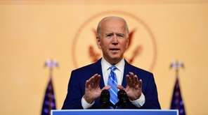President-elect Joe Biden delivered a Thanksgiving address to