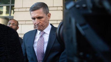 Former National Security Advisor General Michael Flynn leaves