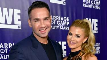 "Mike""The Situation"" Sorrentino and Lauren Pesce attend"