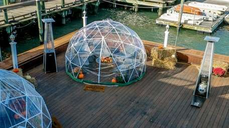Artificial igloos are available to reserve at Danfords