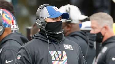 Head coach Joe Judge of the Giants on