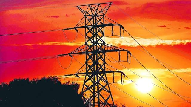 LIPA transmission lines run through a tower in