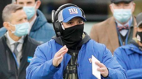 Head coach Joe Judge of the Giants looks