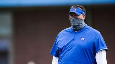 Bret Bielema at Giants training camp on Aug.