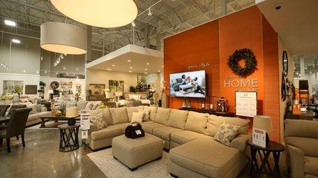 The showroom of the Ashley HomeStore in Riverhead;