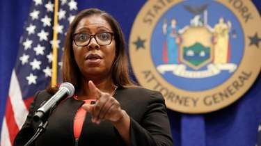 New York Attorney General Letitia James, seen in