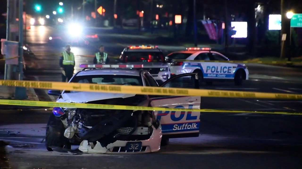 According to Suffolk County police, a police officer