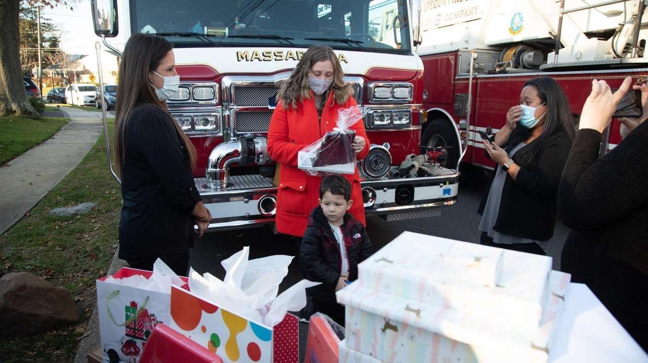 A Massapequa woman and other volunteers gave gifts
