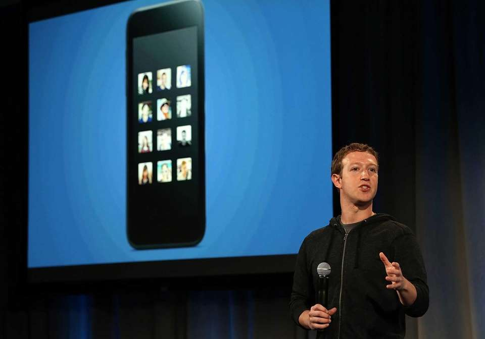 Facebook CEO Mark Zuckerberg speaks during an event