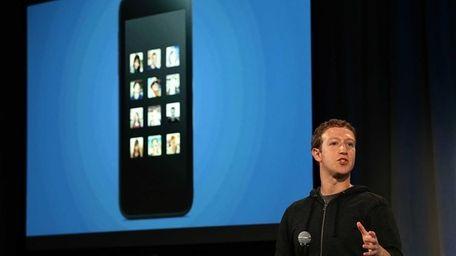 Facebook CEO Mark Zuckerberg speaks during an event
