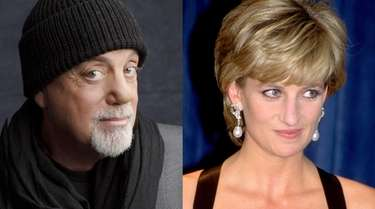 Billy Joel (l) and Princess Diana in an