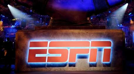 A view of the logo during ESPN The