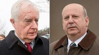 Former Suffolk County District AttorneyThomas Spota, left, and