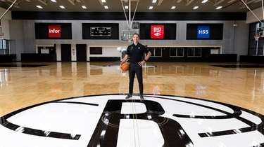 Nets coach Steve Nash poses for portraits on