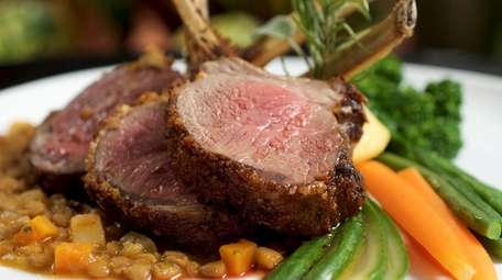 Lamb chops with lentils and polenta at Franina