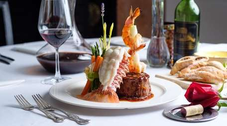 The Filet Mignon surf and turf with South