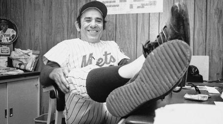 New York Mets manager Yogi Berra, whose team