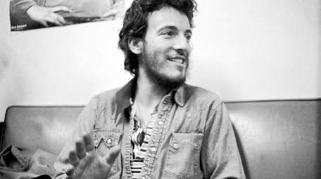 Bruce Springsteen backstage during the