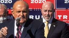 Rudy Giuliani in Philadelphia on Nov. 7 with