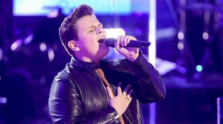 Shoreham teen Carter Rubin is seen performing on