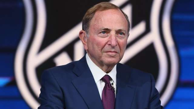 NHL commissioner Gary Bettman prepares for the first