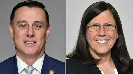 From left, Republican Anthony Palumbo has defeated Democrat