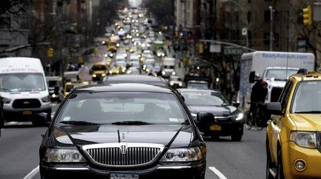 Traffic on Second Avenue in Manhattan in 2018.