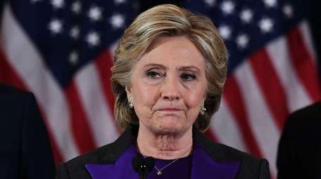 Democratic presidential candidate Hillary Clinton makes a concession