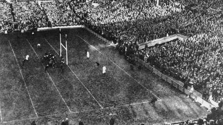 The Polo Grounds with more than 70,000 fans