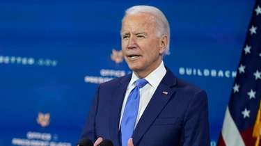 President-elect Joe Biden speaks at The Queen theater