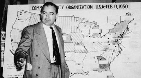 American politician Joseph McCarthy, Republican senator from Wisconsin,