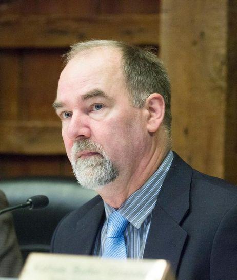 East Hampton Town Supervisor Peter Van Scoyoc shown