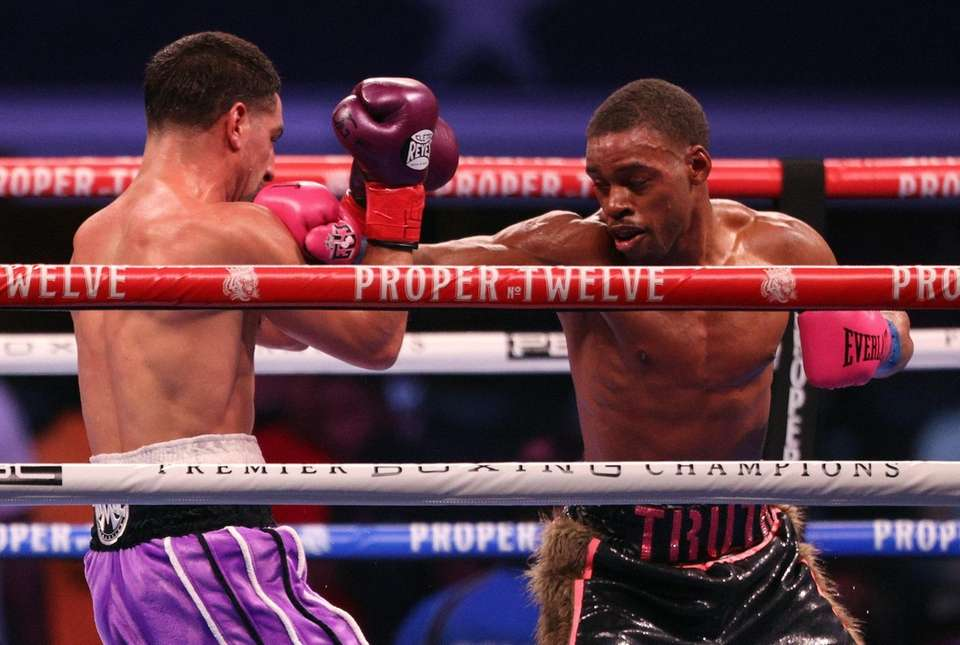 Danny Garcia and Errol Spence Jr. during their