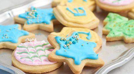 Classic iced sugar cookies.