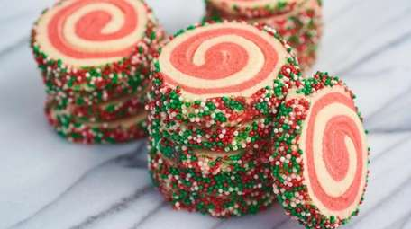 Classic slice-and-bake holiday pinwheel cookies.