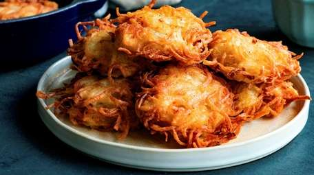 Classic latkes made with shredded potato and onion.