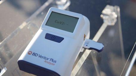 A rapid test machine at ProHEALTH Urgent Care