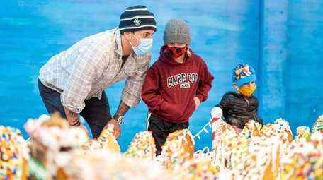 Matt Korsky of Levittown views the GingerBread Lane