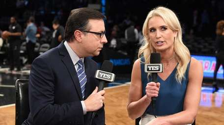 Sarah Kustok, a Brooklyn Nets analyst for the