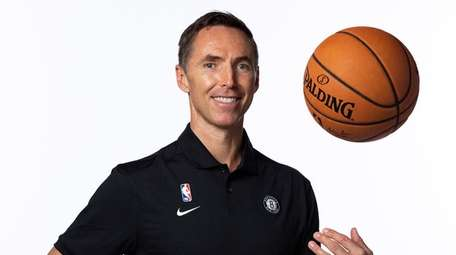 New Nets head coach Steve Nash poses for