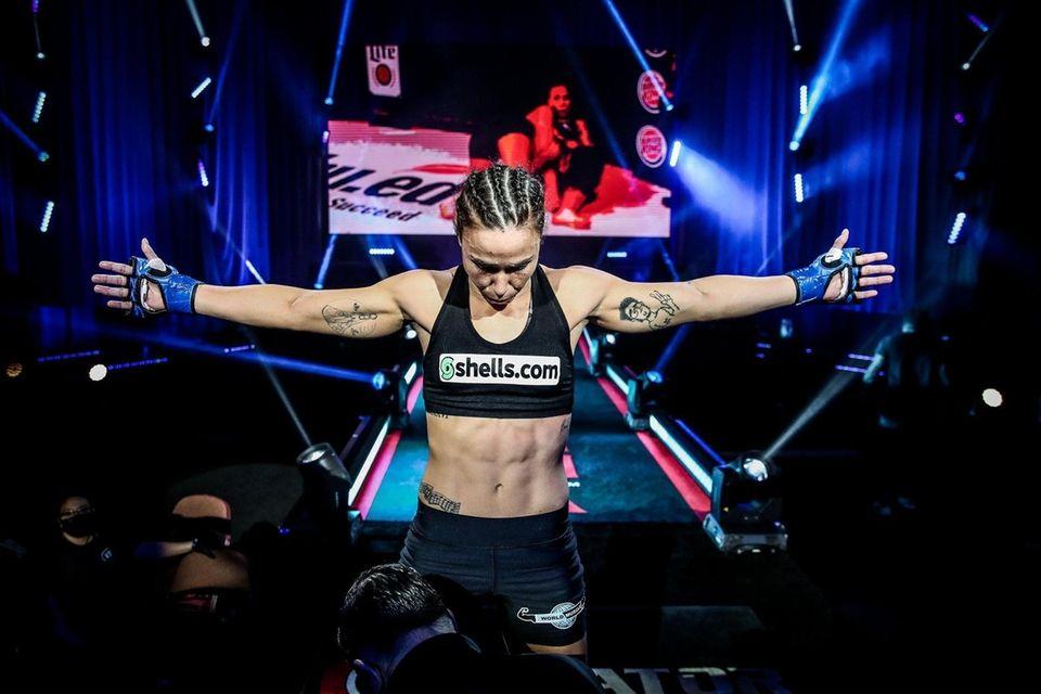 Juliana Velasquez prepares to challenge Ilima-Lei Macfarlane for