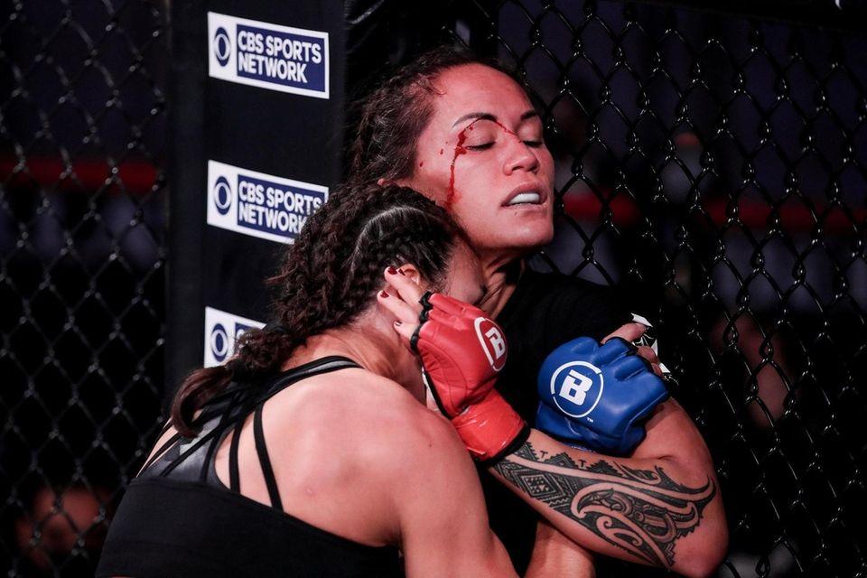 Juliana Velasquez, in the tank top, and Ilima-Lei
