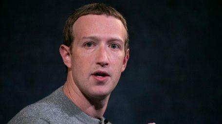Facebook CEO Mark Zuckerberg speaking at the Paley