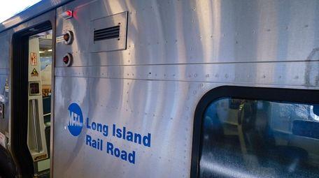 An MTA logo on a Long Island Rail
