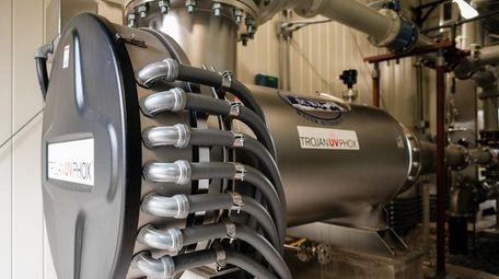 SCWA's Advanced Oxidation Process treatment system, designed to