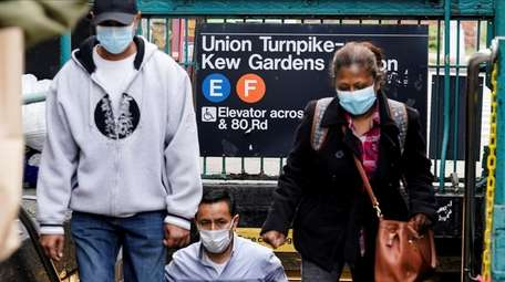 People wearing protective masks during the coronavirus pandemic