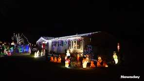 What started out as traditional Christmas decorations outside